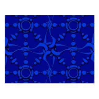 Haken u. schlingen 2 - Blau Postkarte