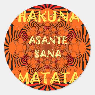 Hakuna Matata einzigartig außergewöhnlich Runder Aufkleber