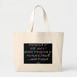Hakuna Matata ist heute mein Geburtstag Hakuna Jumbo Stoffbeutel