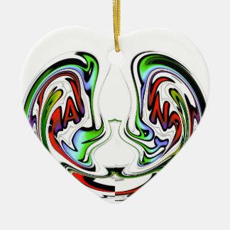 Hakuna Matata lustige Fisch-Geschenkfarben Keramik Herz-Ornament