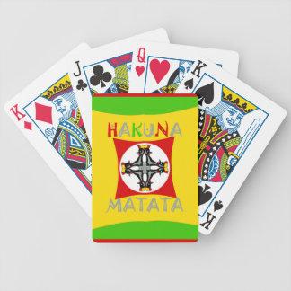 Hakuna Matata Rasta Farbrotes goldenes Grün Bicycle Spielkarten