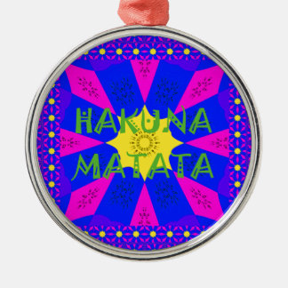 Hakuna Matata schöne fantastische Entwurfs-Farben Silbernes Ornament