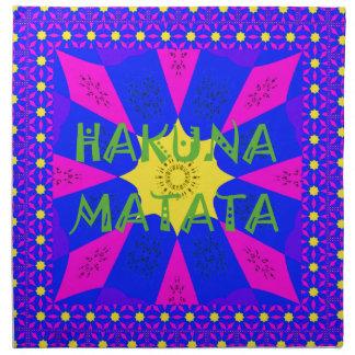 Hakuna Matata schöne fantastische Entwurfs-Farben Stoffserviette