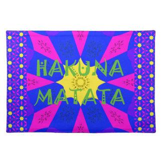 Hakuna Matata schöne fantastische Entwurfs-Farben Tischset