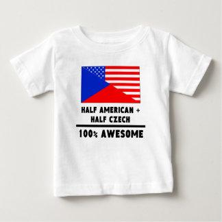 Halb amerikanisch plus halb tschechisches baby t-shirt