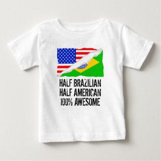 Halb brasilianisches halbes amerikanisches baby t-shirt