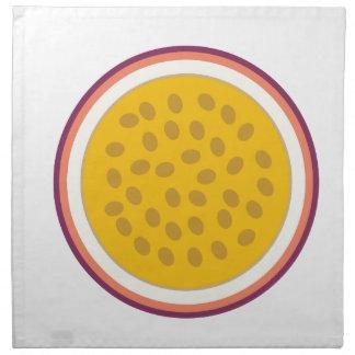 halb gelbe Frucht Serviette