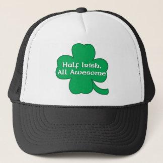 Halb irisch, alles fantastische Kleeblatt Truckerkappe