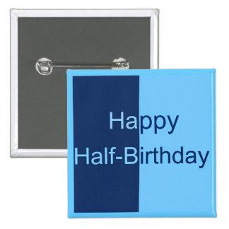 Halbe Geburtstags-Karte Quadratischer Button 5,1 Cm