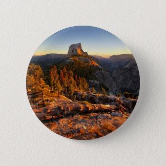 Halbe Haube am Sonnenuntergang - Yosemite Runder Button 5,1 Cm