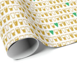 Halbe Liter und Herz-Grün Geschenkpapier