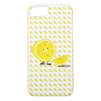 Halbe Zitrone und lächelnde Zitronenscheibe iPhone 8/7 Hülle