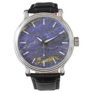HalbedelLapislazuli Armbanduhr