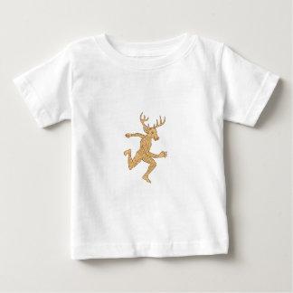 Halber Mann-halbe Rotwild mit dem Baby T-shirt