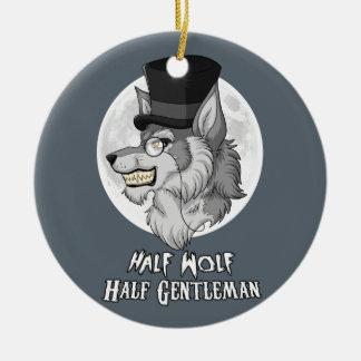 Halber Wolf-halber Herr Keramik Ornament
