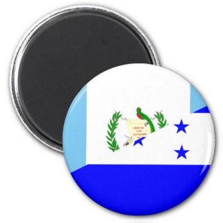 halbes Flaggensymbol Guatemalas Honduras Runder Magnet 5,1 Cm