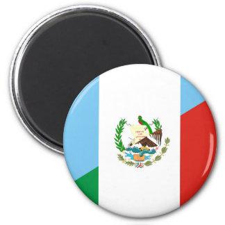 halbes Flaggensymbol Guatemalas Mexiko Runder Magnet 5,1 Cm
