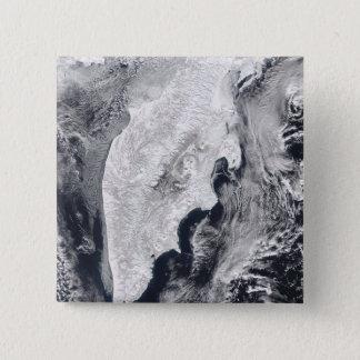 Halbinsel Kamtschatka, Ostrussland Quadratischer Button 5,1 Cm