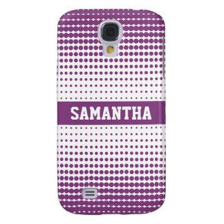 Halbtonbild punktiert personalisiertes 3G (lila) Galaxy S4 Hülle