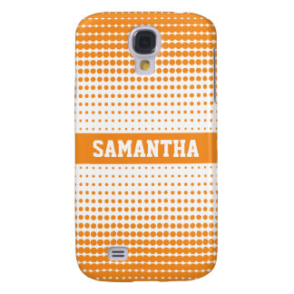 Halbtonbild punktiert personalisiertes 3G (orange) Galaxy S4 Hülle