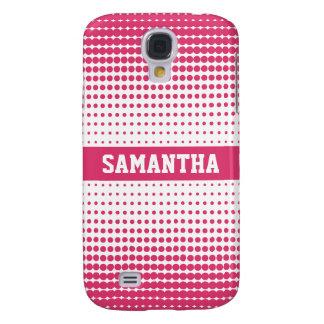 Halbtonbild punktiert personalisiertes 3G (Rosa) Galaxy S4 Hülle