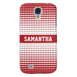 Halbtonbild punktiert personalisiertes 3G (rot) Galaxy S4 Hülle