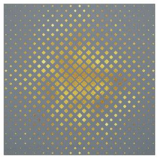 Halbtondiamant-Muster-Gold Stoff
