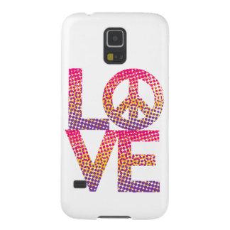 HalbtonLOVE=Peace Galaxie-Verbindungs-Fall Samsung Galaxy S5 Cover