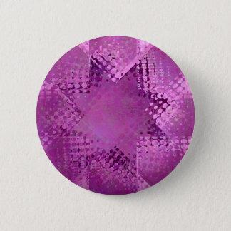 Halbtonstern des Retro Schmutzes Runder Button 5,1 Cm