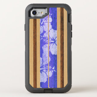 Haleiwa Surfbrett-Vintages hawaiisches Imitat OtterBox Defender iPhone 8/7 Hülle