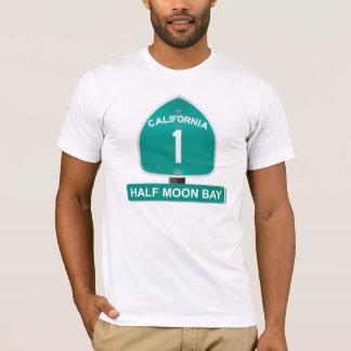 Half Moon Bay T - Shirt Kalifornien-Landstraßen-1