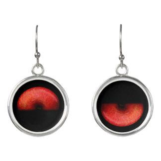 Hälfe der roten Apple-Kunst-Fotografie Ohrringe