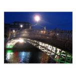 Halfpenny-Brücke, Dublin Postkarte