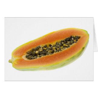 Hälfte eine Papaya Karte
