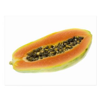 Hälfte eine Papaya Postkarte