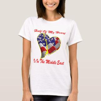 Hälfte meines Herzens ist im Mittlere Osten T-Shirt
