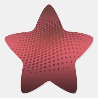 Halftone Red Stern-Aufkleber