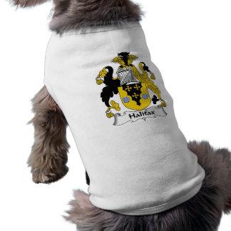 Halifax-Familienwappen Ärmelfreies Hunde-Shirt
