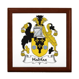 Halifax-Familienwappen Große Quadratische Schatulle