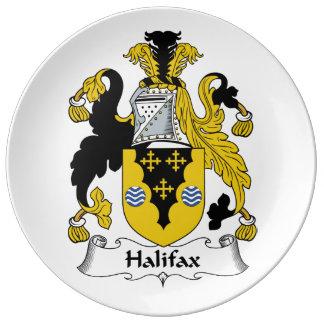 Halifax-Familienwappen Porzellanteller