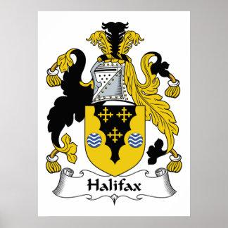 Halifax-Familienwappen Poster