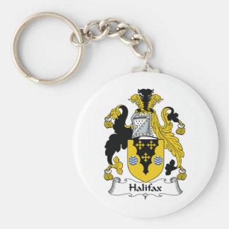 Halifax-Familienwappen Standard Runder Schlüsselanhänger
