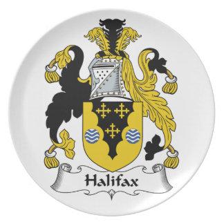 Halifax-Familienwappen Teller