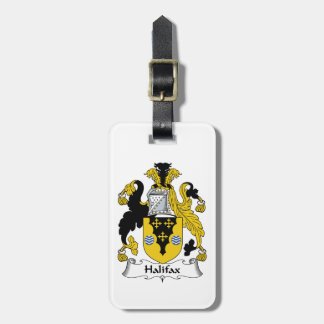 Halifax Family Crest Luggage Tag