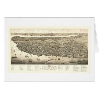 Halifax, NS, panoramische Karte Kanadas - 1879