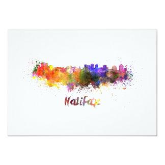 Halifax skyline im Watercolor 12,7 X 17,8 Cm Einladungskarte