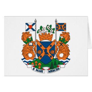 Halifax-Wappen Gruß-Karte Karte
