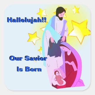 Halleluja!! Unser Retter ist geborener Aufkleber