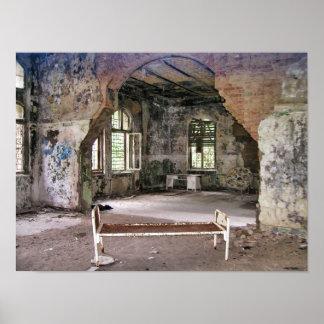 Hallen und Räume, Beelitz Krankenhaus, verlorene Poster
