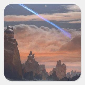 Halleys Komet Quadratischer Aufkleber